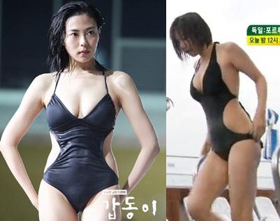추수현-이채영, 수영복 몸매 대결 '청순 VS 섹시'