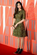 [포토] 독특한 무늬의 원피스 입은 김효진
