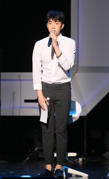 [포토]2PM 우영, '준케이 형을 응원합니다'