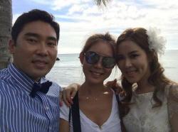 채리나♥박용근, 하와이 신혼여행 인증샷…'날씨 참 좋구만'