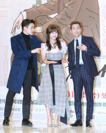 [포토]배우 이준호-남상미-남궁민, '한 여자를 둘러싼 삼각관계?'