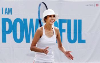 [포토]윌슨 테니스, 전미라와 함께 하는 '원 포인트 테니스 레슨'