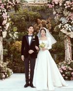 """""""많은 축복·관심, 감사""""…송혜교, 송중기와 결혼 소감"""