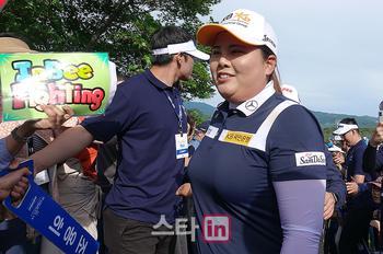 [포토] 매치퀸 박인비 '인비 파이팅'