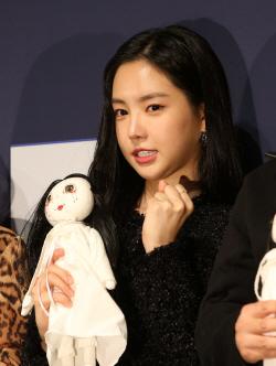 [포토]손나은, '공포돌의 무서운 파이팅!'