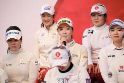 [포토] 오지현 '팀 KLPGA 도움 되는 플레이 하겠다'