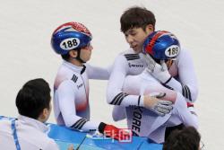 남자 쇼트트랙, 월드컵 1500m 메달 싹쓸이...최민정도 금메달