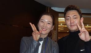 [포토] 최운정 '동갑내기 팬클럽 회원입니다'