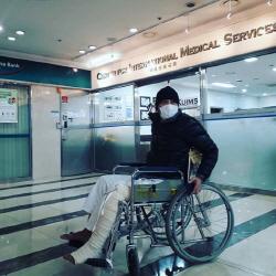 """'육종암 수술' 김영호, 휠체어 탔다…""""희망이 오고 있다"""""""