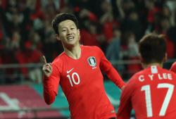 이재성 후반 13분 득점포 가동…한국, 콜롬비아에 2-1 리드