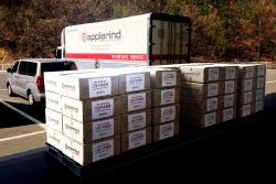 애플라인드, 강원 산불 피해 주민 위해 1억3000만원 의류 기부