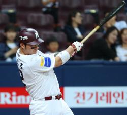 키움 박병호, 올시즌 안타 평균 속도 1위 '152.7km'