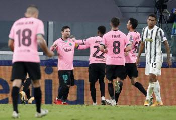 '메시 1골 1도움' 바르셀로나, 호날두 빠진 유벤투스에 완승