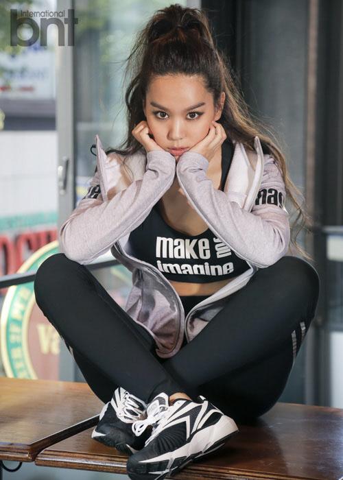 [포토]김희정, 밀착 운동복에 드러난 몸매