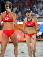 '세계 최강' 미국 비치발리볼 미녀 선수들