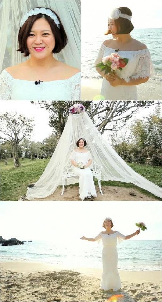 김숙, 웨딩드레스 입었다..`나 결혼할거야`