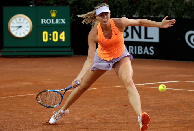 [포토] 로마 오픈 테니스 `받아라`
