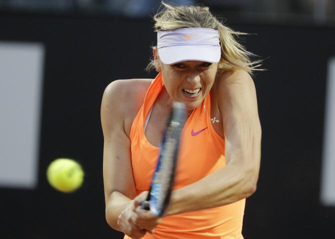 [포토] 로마 오픈 테니스 `있는 힘껏`