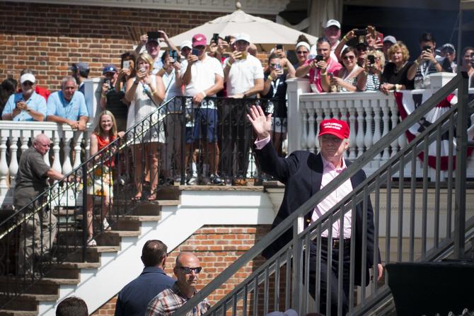 [포토] `US여자오픈` 찾은 美트럼프 대통령