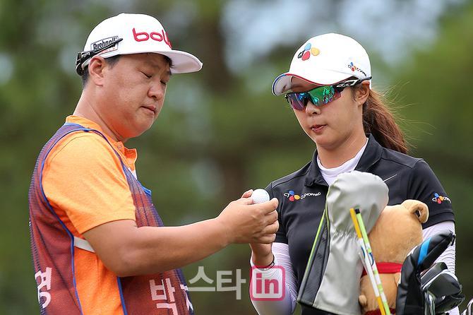 [포토] 박지영 `홀인원 볼이야`
