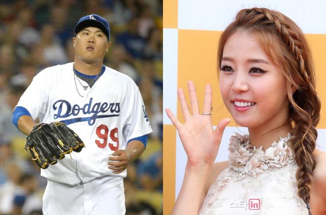 류현진-배지현 열애설 `결혼 전제로 교제.. 야구 매개체`