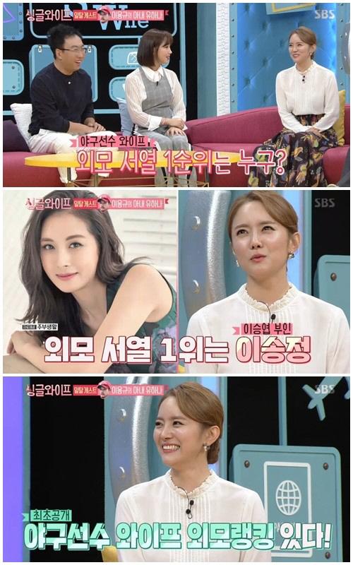 유하나 `난 야구선수 아내 외모 3위..TOP은 이승엽 부인`