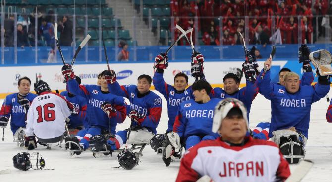 [포토] 한국, 일본을 상대로 대승!
