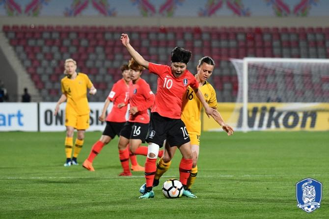 윤덕여호, 세계 6위 호주와 0-0 무승부...지소연, 센추리클럽 가입