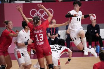 [도쿄올림픽]한국 女핸드볼, 네덜란드에 7점차 석패...2연패