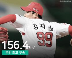 '타자->투수 변신' SK 강지광, 156.4km 지난 주 최고구속