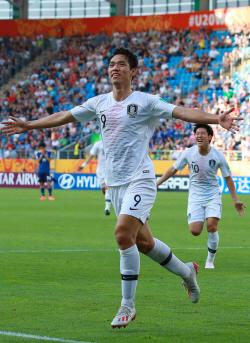 [U-20 월드컵]숙적 일본 무너뜨린 오세훈의 빛나는 머리