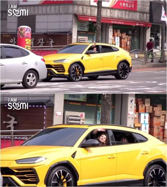 전소미, 2억대 람보르기니 탄 영상 '화제'