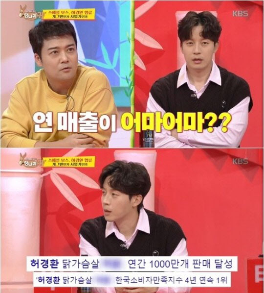"""허경환 """"식품업체 CEO.. 연매출 180억, 200% 성장"""""""