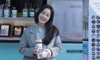 김태희, '하이바이, 마마!' 제작진에 커피차 선물 '마음도 태쁘'