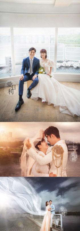 """개그우먼 권미진, 웨딩 화보 공개 """"임신 초기…내년 출산"""""""