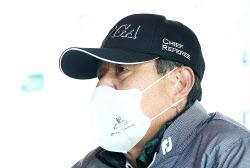[포토] 김태연 경기위원장 '아쉬움속에 54홀 대회로'