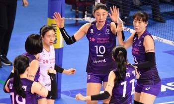 흥국생명, IBK기업은행 상대 4경기 연속 셧아웃 승리...선두 독주