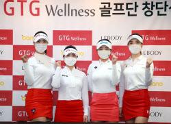 [포토] 안예인-전예성-안소현-이혜정 '2021 골프단 우승 기대해주세요'