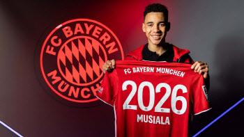 특급 기대주 무시알라, 뮌헨과 첫 프로 계약…2026년까지