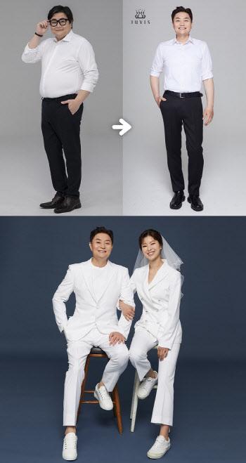정재용, 31kg 다이어트 후 깜짝 웨딩 화보 공개