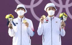 [포토] 안산X김제덕, 도쿄올림픽 대한민국 첫 금메달
