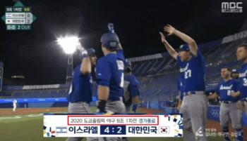 MBC 왜 이러나…야구 6회에 '한국, 4-2 패' 경기종료 자막