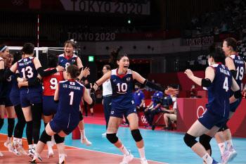 [도쿄올림픽]기적을 쓰는 한국 여자배구, 8강전 상대는 누구?