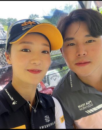 """골프스타 커플 탄생..오지현 """"김시우와 결혼 전제로 교제"""""""