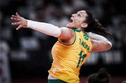 브라질 女배구 탄다라, 도핑 적발...한국과 준결승전 미뤄지나
