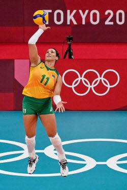 [도쿄올림픽]브라질 女 배구 공격수, 도핑 적발…한국전 출전 못한다