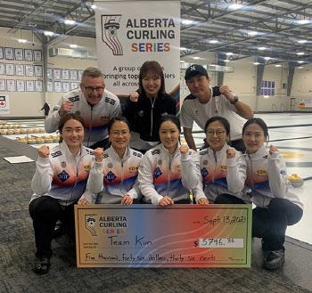 여자컬링 국가대표 팀 킴, 시즌 첫 국제대회 7전전승 우승