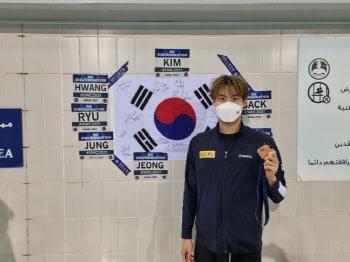 '韓수영 희망' 황선우, 월드컵 혼영 이어 자유형 100m도 동메달