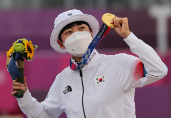 안산, 하계올림픽 3관왕은 최초..동계 포함 3번째