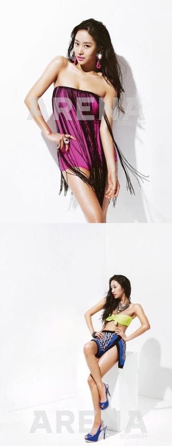 전혜빈, 비키니 화보서 구릿빛 탄력 몸매 과시